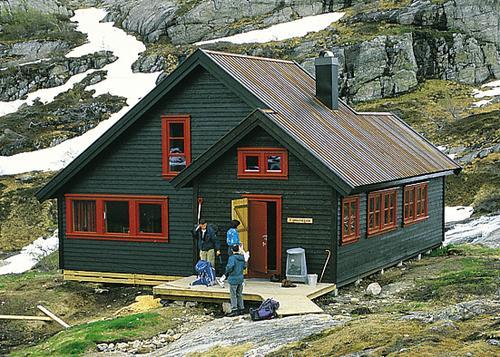 Grautheller hytten, en typisk DNT hytte.