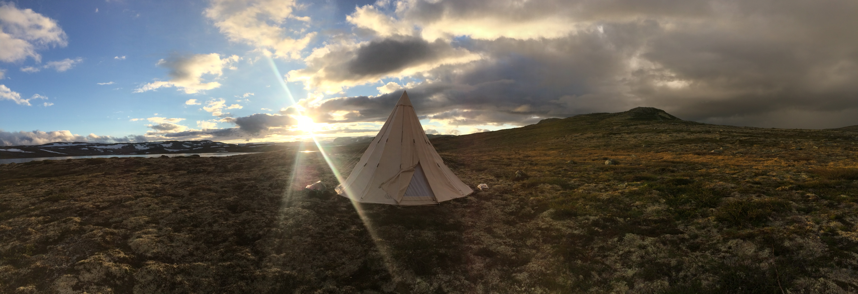I telt på Hardangervidda